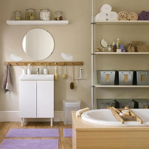 ... Bathroom Cabinets Open Shelving Part 91