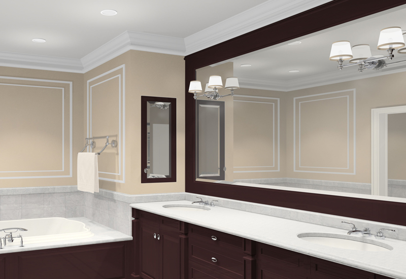 Reflect natural light with mirrors to make bathroom look bigger