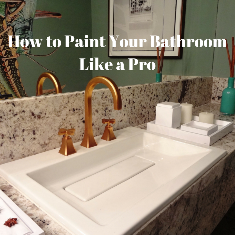 Paint your bathroom like a pro